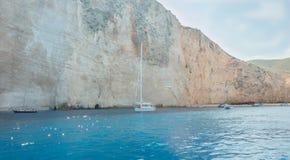 Islas jónicas de Zakynthos de la playa de Navagio Fotos de archivo libres de regalías
