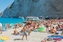 Islas jónicas de Zakynthos de la playa de Navagio Imagen de archivo