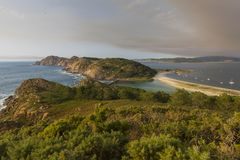 Islas Pontevedra, España de Cies Imagen de archivo