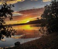 Islas Vírgenes del Caribe de la puesta del sol Imágenes de archivo libres de regalías