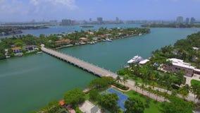 Islas video aéreas de Miami Beach almacen de metraje de vídeo