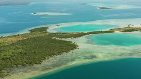 Islas y arrecife de coral tropicales, Filipinas, Palawan almacen de video