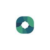 Islated blue abstract logo. Rhombus shape logotype. Frame icon.  Stock Photography