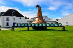 ISLAY, ΗΝΩΜΈΝΟ ΒΑΣΊΛΕΙΟ - 25 Αυγούστου 2013: Φυσική άποψη Bruichladdich Στοκ Εικόνα