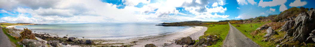 Islay landscape. Panoramic view of Islay coastline royalty free stock images