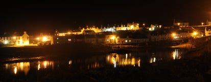 Islay Portnahaven bij nacht Stock Afbeeldingen