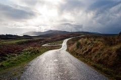 Islay road. Road on the isle of Islay, Scotland royalty free stock photos