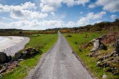 Islay road. Road on the isle of Islay, Scotland stock photo