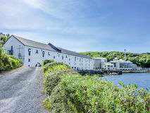 Islay, Scotland - June 2, 2014: Whisky storing in the houses of Caol Ila Royalty Free Stock Photography