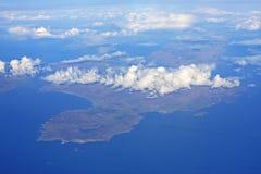 Islay, Scotland. Looking down on the island of Islay royalty free stock photos