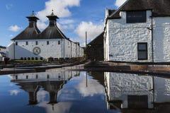 Ardbeg whisky distillery`s established in 1815, Islay, Scotland. ISLAY, SCOTLAND - SEPT 13 2017: Ardbeg whisky distillery`s established in 1815. The traditional stock photo