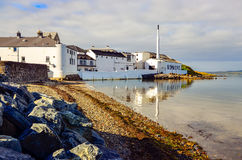 ISLAY, UNITED KINGDOM - 25 August 2013: Scenic view of Bowmore distillery. Island of Islay, United Kingdom stock photos