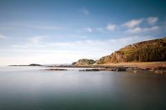 Isle av skyddsremsakustlinjen. arkivfoton