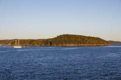 Isle in the Bay of Bar Harbor, USA, 2015 Stock Photos