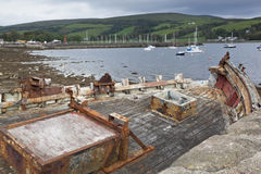 Isle of Bute. Picture taken of boats moored off Port Bannatyne. This port is located on the Western Isle of Bute off mainland Scotland in the UK. It had been Stock Images