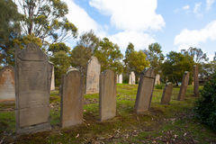 Isle of the Dead Cemetery. At Port Arthur in Tasmania, Australia Royalty Free Stock Images