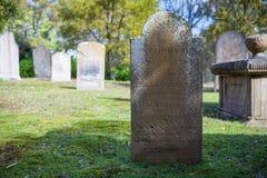 Isle of the Dead Cemetery. At Port Arthur in Tasmania, Australia Stock Photography