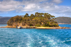 Isle of the Dead, Port Arthur, Tasmania Stock Image
