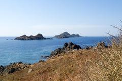 Isle des sanguinares. Corse - Corsica, France: isle des sanguinares royalty free stock photos
