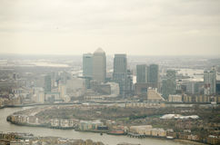 Isle of Dogs Skyline, London Stock Photo