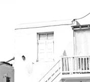 In the isle of greece antorini europe old house and white color Stock Photos
