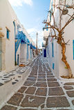 In the isle of greece antorini europe old Stock Images