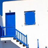 In the isle of greece antorini europe old house and white color Stock Image
