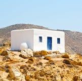 In the isle of greece antorini europe old house and white color. Isle of     greece antorini europe old house and white color Stock Image