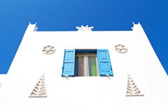 In the isle of greece antorini europe old Stock Photography
