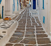 In the isle of greece antorini europe old house and white color Royalty Free Stock Photos