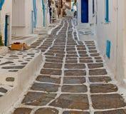 In the isle of greece antorini europe old house and white color. Isle of     greece antorini europe old house and white color Royalty Free Stock Photos