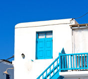 In the isle of greece antorini europe old house and white color. Isle of     greece antorini europe old house and white color Royalty Free Stock Photography