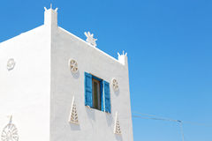 In the isle of greece antorini europe old house and white color Royalty Free Stock Images