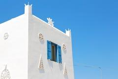 In the isle of greece antorini europe old house and white color. Isle of     greece antorini europe old house and white color Royalty Free Stock Images