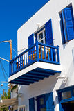 In the isle  greece antorini  and white color Royalty Free Stock Photos