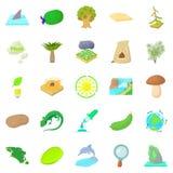 Isle icons set, cartoon style. Isle icons set. Cartoon set of 25 isle vector icons for web isolated on white background Royalty Free Stock Photos