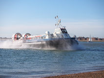 Isle if wight to Portsmouth Hovercraft Stock Photo