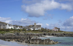 Isle of Iona accommodations and ocean views Royalty Free Stock Photography