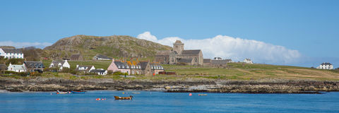 Isle of Iona Scotland uk Inner Hebrides Scottish island off coast of Mull west Scotland panorama Stock Photography