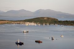Isle of Kerrera and the Isle of Mull. From Oban, Scotland royalty free stock image