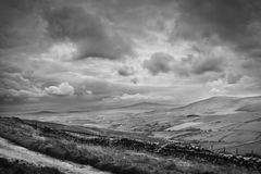 Isle of Man. Landscape view from one of the Isle of Man peaks stock photography