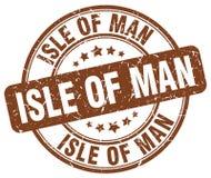 Isle Of Man brown grunge round vintage stamp Royalty Free Stock Photo