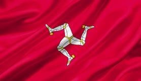 Isle of Man fahnenschwenkend mit dem Wind, Illustration 3D Lizenzfreies Stockbild