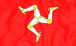 Isle of Man-Flagge Stockfotografie