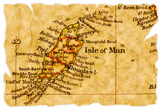 Isle of Man old map Royalty Free Stock Photos