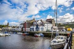 Isle of Man-` s Kleinstadt-Hafen Stockbild