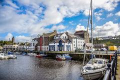 Isle of Man`s Small Town Port Stock Image