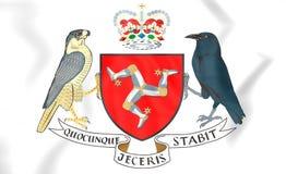 Isle of Man-Wappen Stockbild