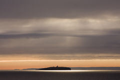 Isle of May. Sunshine over the Isle of May Royalty Free Stock Photos