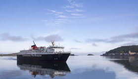 Isle of Mull Ferry arriving at Oban Stock Image
